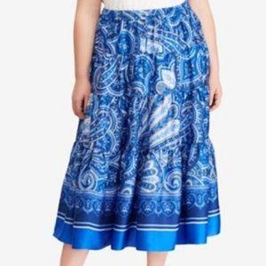 NEW Ralph Lauren  Plus Size 2X Paisley-Print Maxi